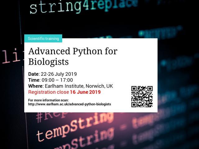 Advanced Python for Biologists | GOBLET